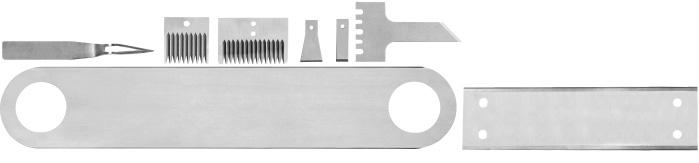 Plastic and rubber knives - Profile knives