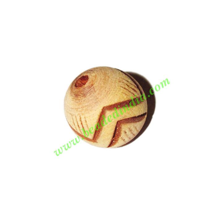 Wooden Carved Beads, size 15mm, weight approx 1.47 grams - Wooden Carved Beads, size 15mm, weight approx 1.47 grams