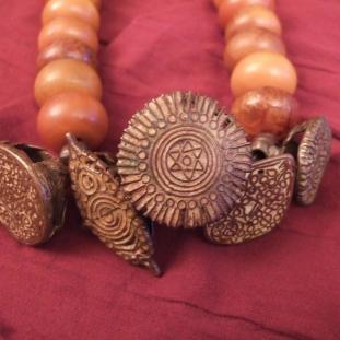 Colliers - Bronze, ambre, Inde