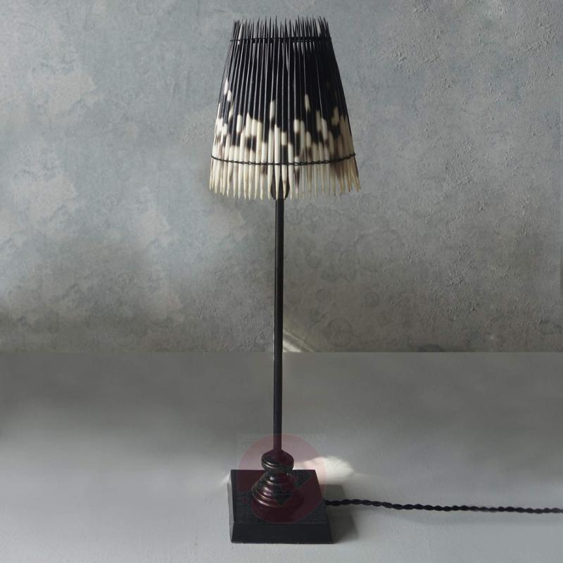 Table lamp Kenia with genuine porcupine bristles - indoor-lighting
