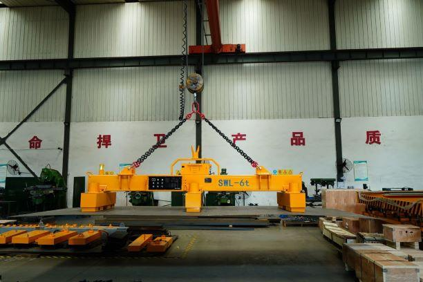Electro Permanent Magnetic Beam with integrated Battery - HEBPP-06-060 / For Lifting of Steel Plates up to 6.000 mm