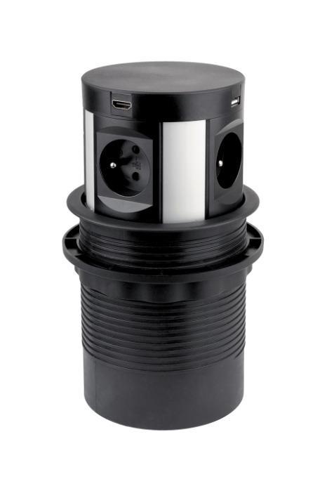 STRONG electric socket elevating - 4x230V,1xRJ45,2xUSB5V,1xHDMI,wireless charger