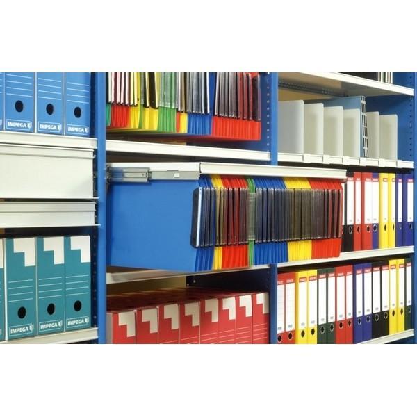 Rayonnage archives et bureau - Rayonnage archives de bureau métallique à parois