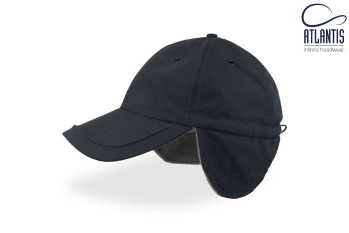 Cappello invernale con visiera, paraorecchi e pile interno. - Cappello antipioggia invernale antifreddo, con paraorecchi e pile interno.