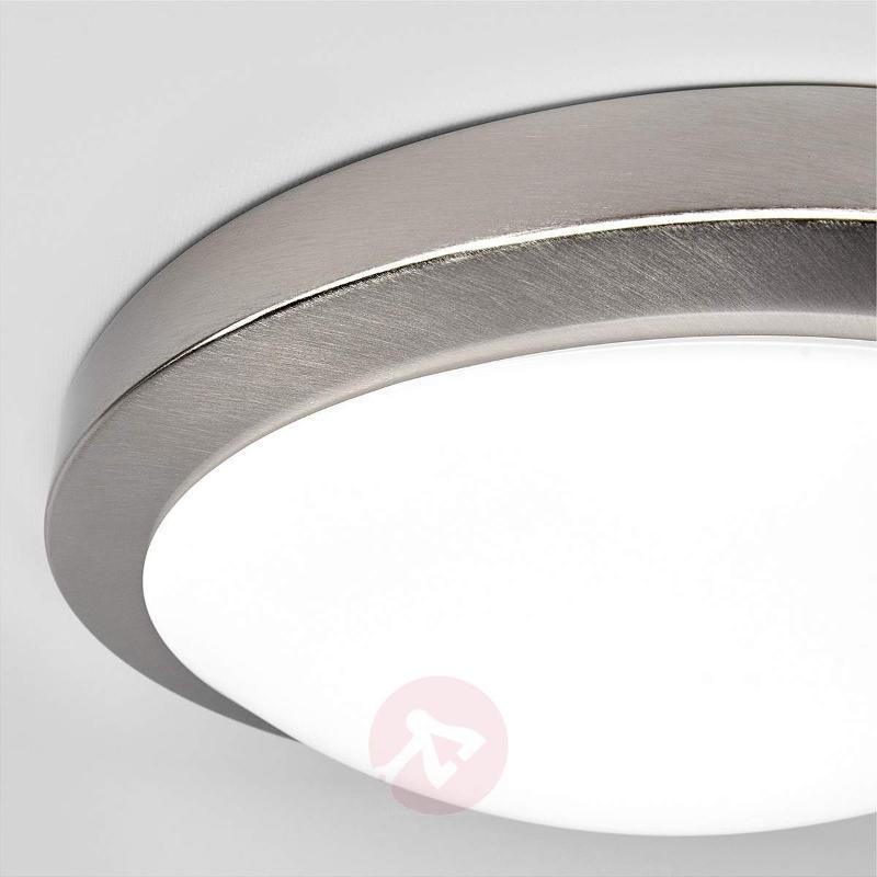 Modest Aras LED bathroom light, matt nickel - Ceiling Lights