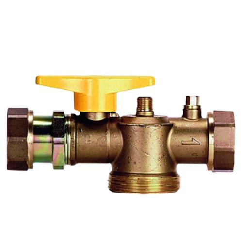 Ball Valves - Connector ball valve for one-pipe gas meter
