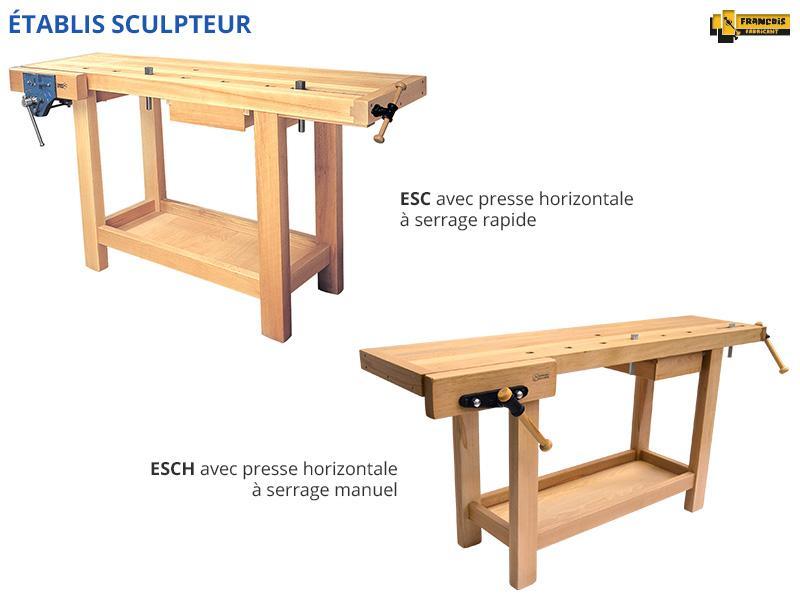 Établis de sculpteur / luthier