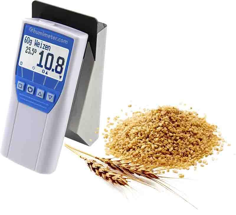 grain and seeds moisture tester - humimeter FS1 - Whole grain moisture meter - low sample volume and sample temperature measurment