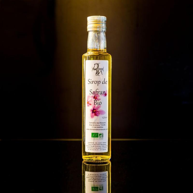 Sirop de Safran 240ml - Épicerie sucrée