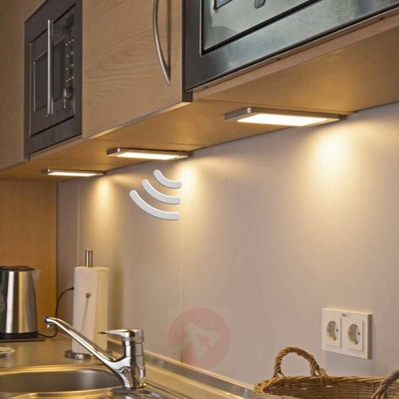 3 LED under-cabinet lights Sascha with sensor - indoor-lighting