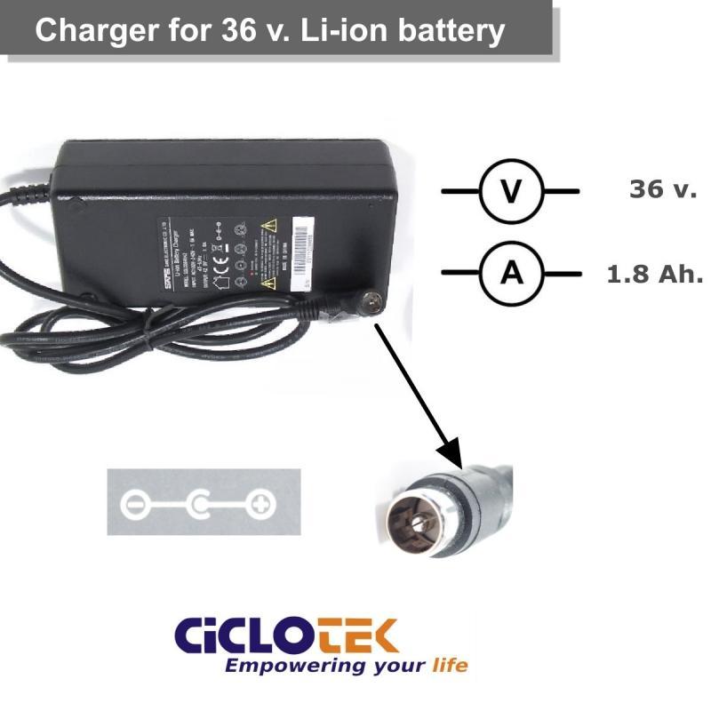 Cargador para batería de litio de 36v. tipo CK (15) y RN - Ciclotek
