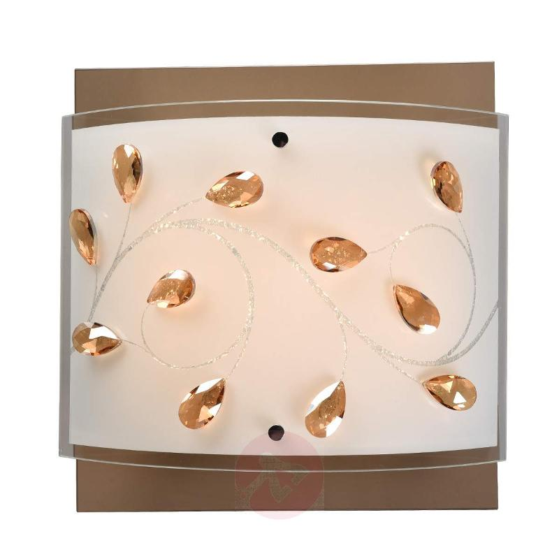 Glass ceiling light Lorena with ornamentation - Ceiling Lights