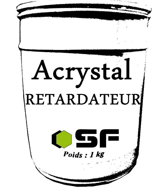 ACRYSTAL RETARDATEUR EN 1KG - Resines acrystal Colorants, agents et fibres