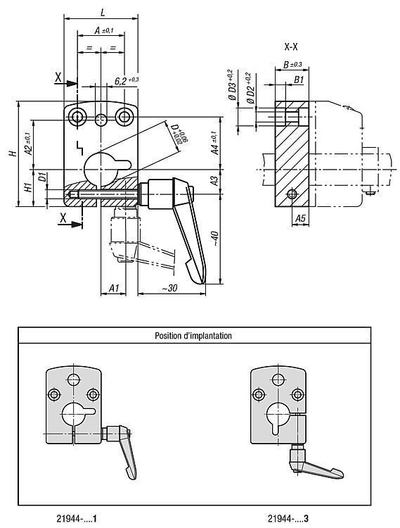 Plaque de montage - Règles, indicateurs de position, nivelles