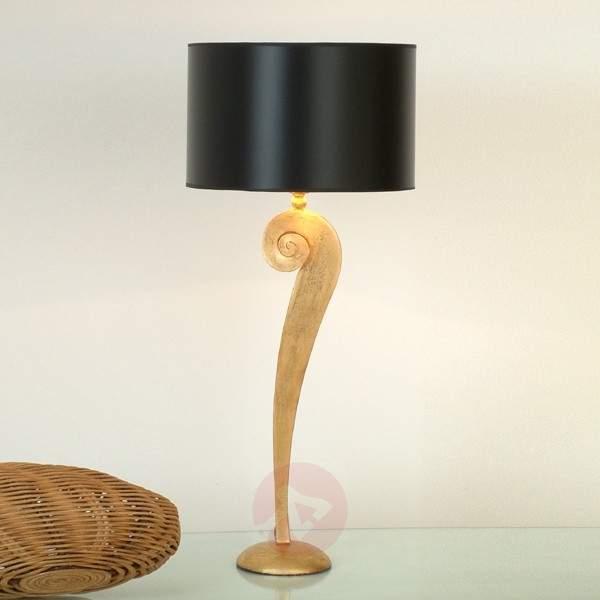 Noble table lamp LORGOLIOSO in gold-black - Window Sill Lights