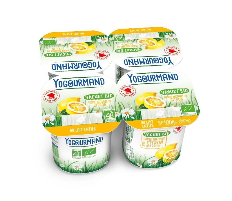 Yaourt Yogourmand Bio aromatisé Citron - Produits laitiers
