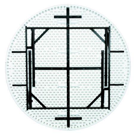 Table Polypro Ronde 154 Cm - Tables De Collectivités
