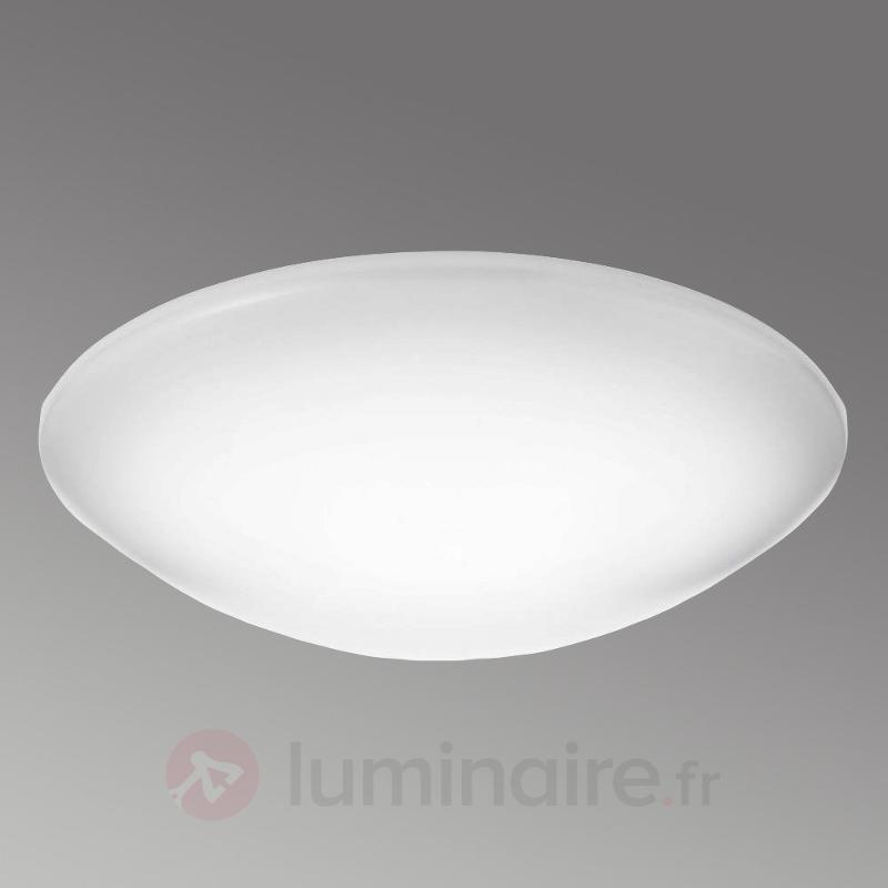 Grand plafonnier LED Suede, matériau synthétique - Plafonniers en verre