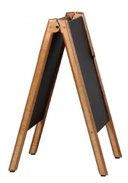 Wood Displays - Chevalet Bois avec Tableau Noir