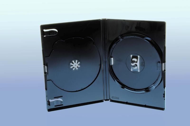 AMARAY DVD Box 2-fach - 14mm - FOF - schwarz - bulkware - DVD Hüllen