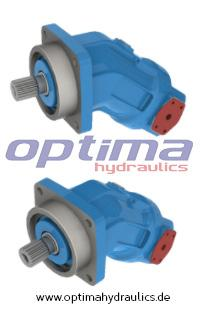 Fixed displacement axial piston bent-axis hydraulic motors