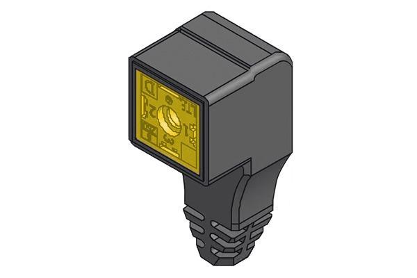 Connettore a quattro poli per elettrovalvole -