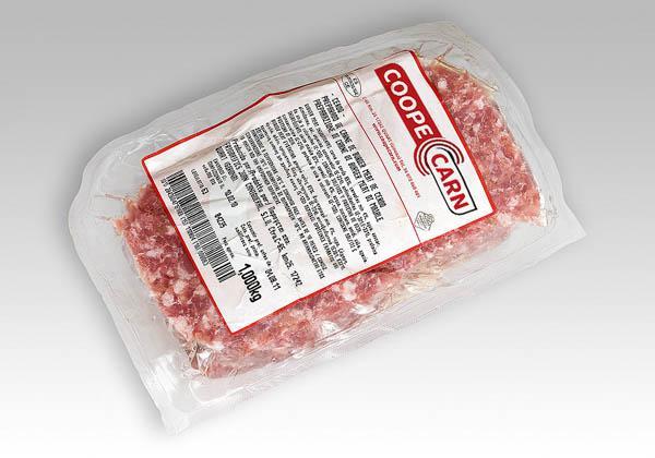 Picada burger meat congelada de cerdo, vacuno y mixta