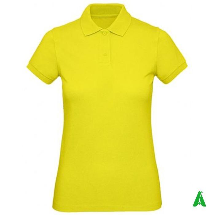 Polo donna 100% cotone organico piquet di qualita'  - Polo piquet di alta qualita' per donna, tessuto 100% cotone organico