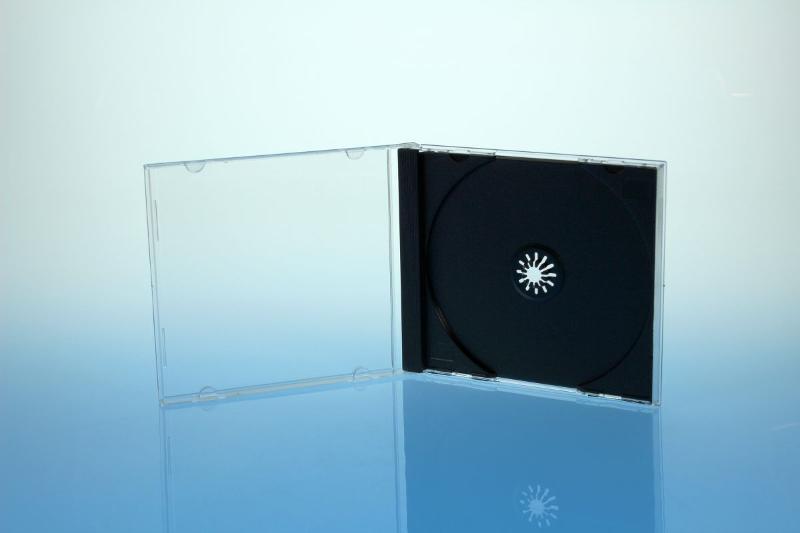 CD Jewelcase für 1 Disc - montiert mit schwarzem Tray - Jewelboxen & Trays