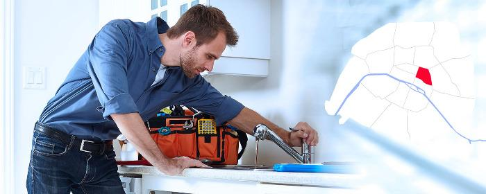 Dépannage plombier Paris 3 (75003) - Intervention en plomberie à Paris 3 (75003) 24/24h et 7/7 jours