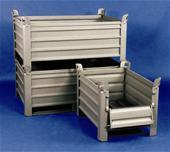 Caisses palettes métalliques tôlées