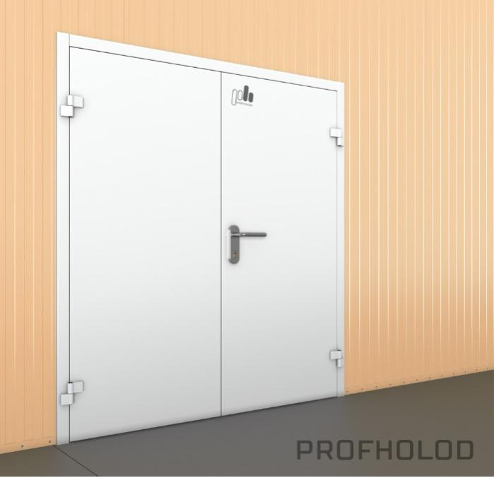 Industrial single leaf or double leaf steel door - Refrigeration Doors