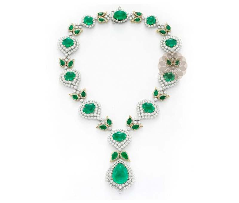 Antique Diamond and Gold Necklace -