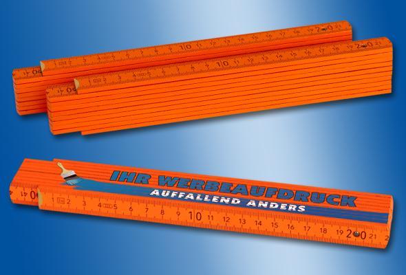 HOLZ-ZOLLSTOCK 2m orange - Menge: 50 Stück (3,70 EUR/Stück netto) 100 Stück (3,10 EUR/S