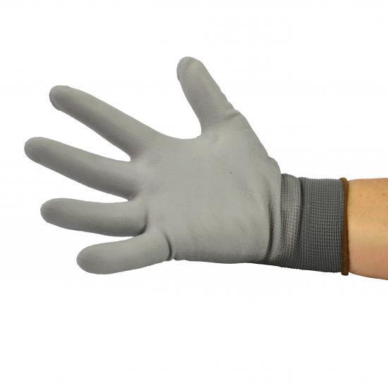 Gants polyester gris avec paume enduite PU Réf. : PG6130 - Protection individuelle EPI