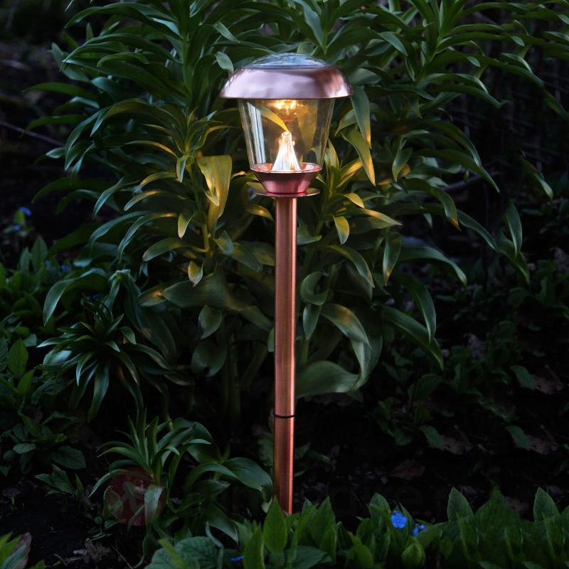Lampe solaire LED ornementale Sarina cuivre 66 cm - Toutes les lampes solaires