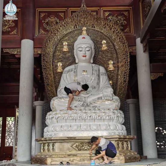 Natural Stone Granite Temple Buddha Carved Buddha Statue - Buddhist Statues