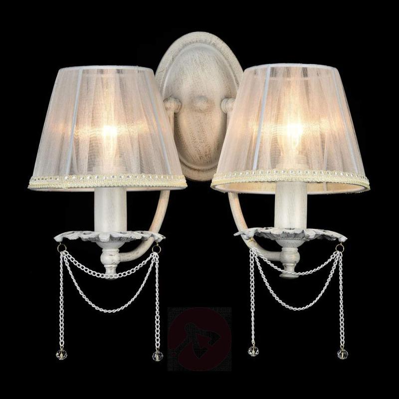 Lolita - filigree organza wall light - design-hotel-lighting