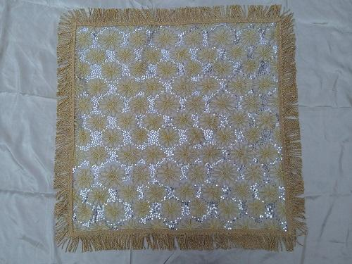 Golden art lace tablecloth