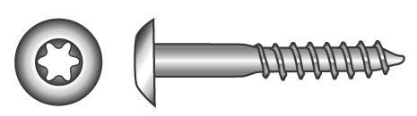 """Fassadenschrauben """"Trespo"""" mit TX-Innensechsrund-Antrieb - Material A2"""
