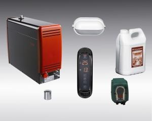 Equipos para baños de vapor - Equipos completos con generadores de diferentes potencias