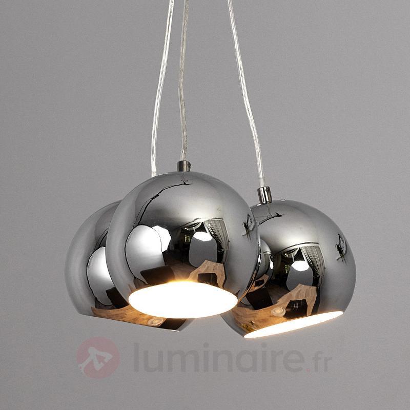 Suspension sphérique LED Pepa, chromé brillant - Suspensions LED