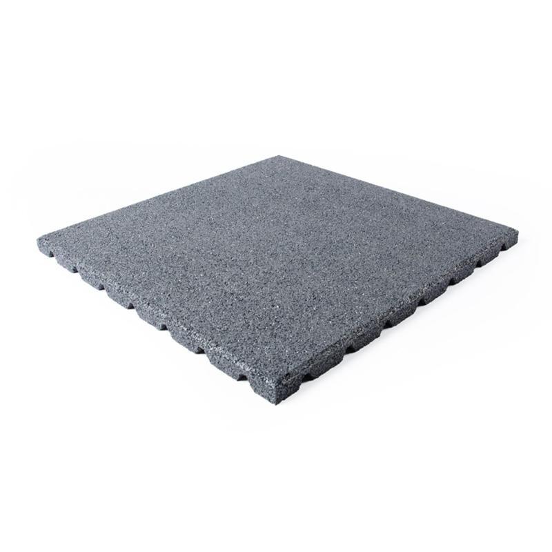 Terrassenplatte grau 50x50x2,5cm - Gummigranulatmatten