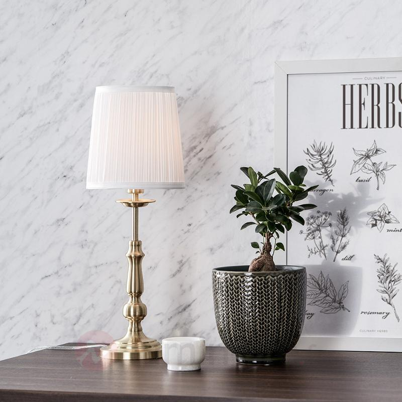 Belle lampe à poser textile Imperia - Lampes à poser classiques, antiques