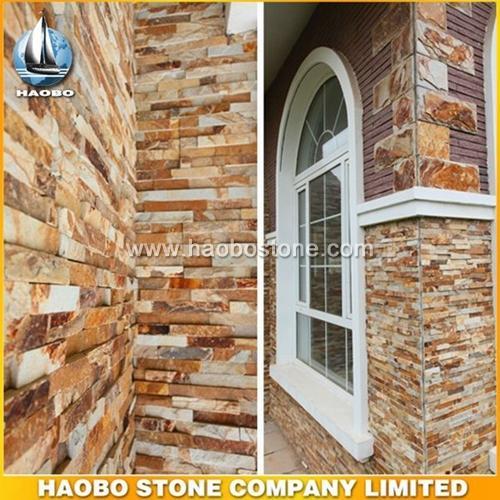 Natural Gold Cheap Cultured Stone HB-SC019 - Culture Stone