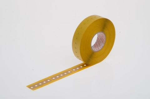 radial tape connector, self-adhesive foil, 16 x 63 mm, brown - radial tape connector made from Steierform 87-10122, brown