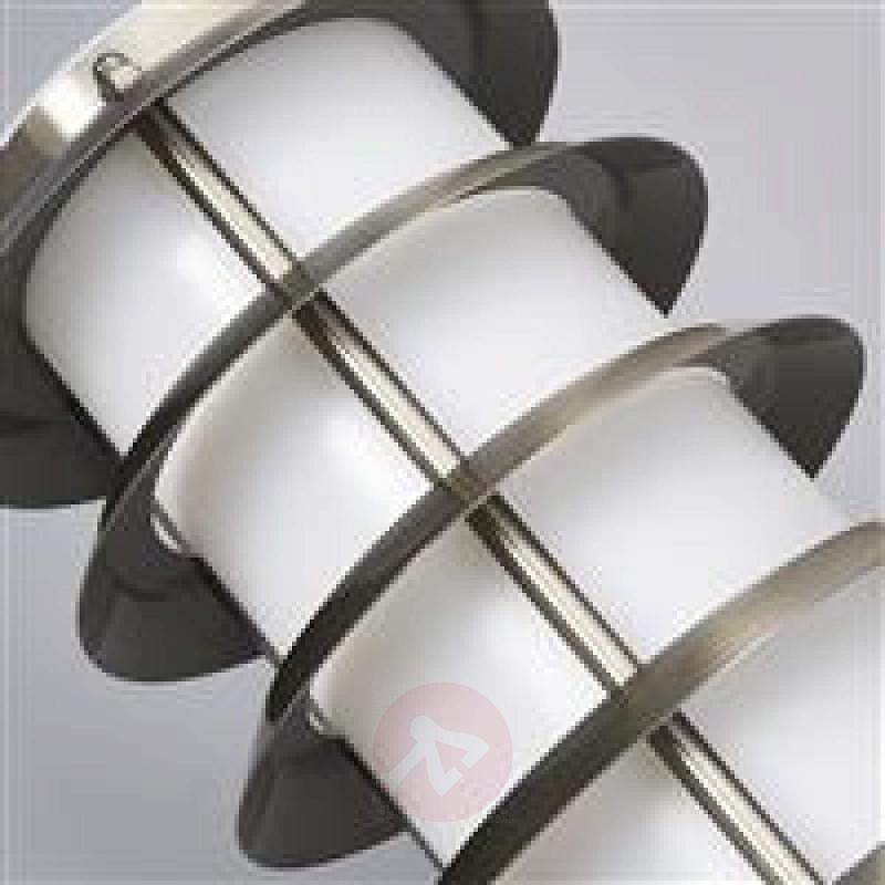 Outdoor wall lamp Selina in the shape of a torch - stainless-steel-outdoor-wall-lights