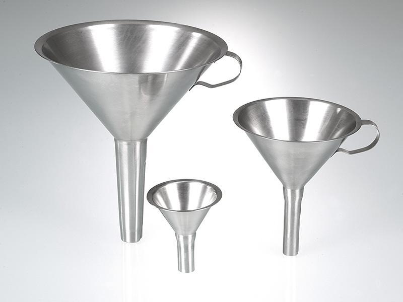 Embudo de acero inoxidable - Medición de volumen, embudos