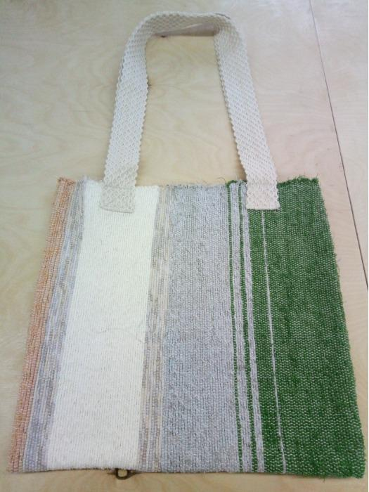 Handwoven rag tote  bag. - Handwoven rag tote  bag is made of 100% cotton