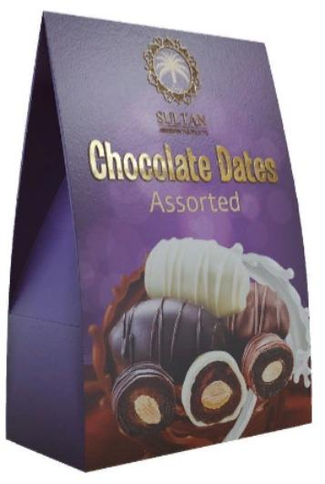 Chocolate dates with almond, Assorted 100g - SULTAN